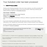 autodesk order email