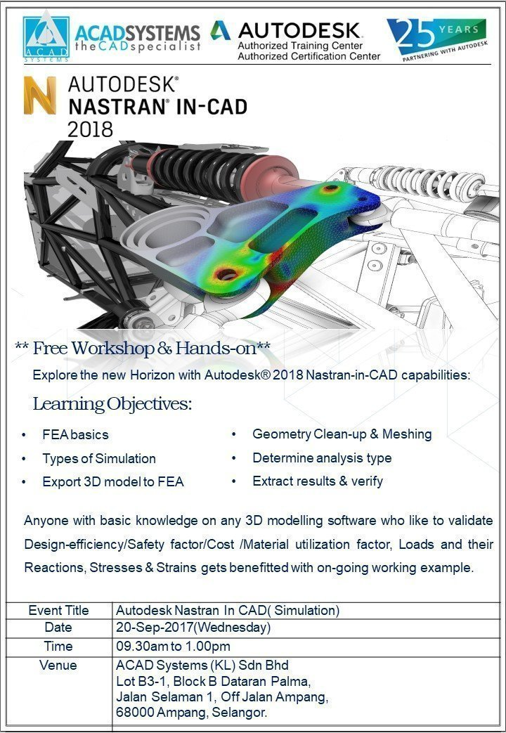 Worskhop on Autodesk Nastran In-cad