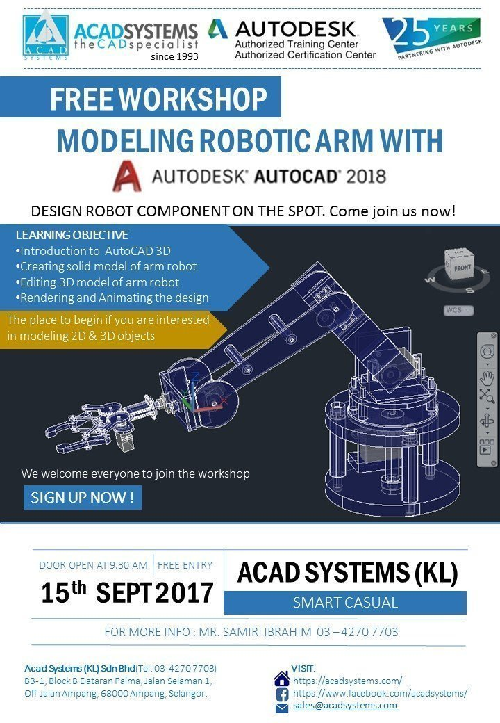 Modelling Robotic Arm with AutoCAD 2018 - Acad Systems | Autodesk