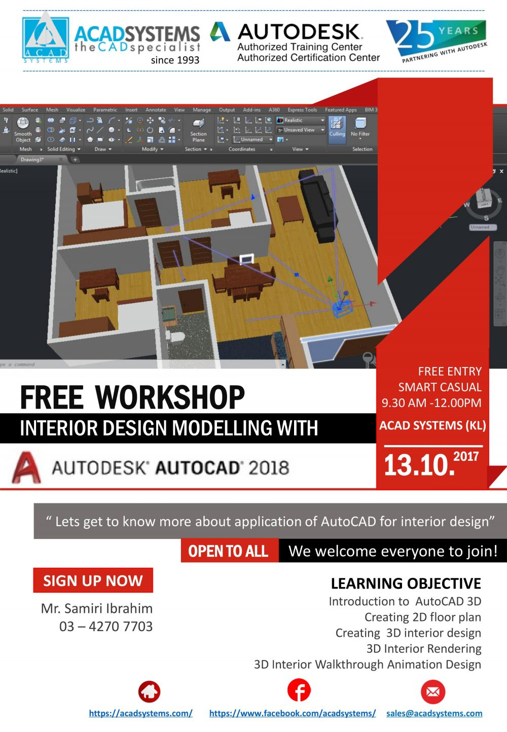 Interior design modelling with autodesk autocad 2018 for Architecture 2018