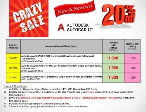 AutoCAD LT December Crazy Sale
