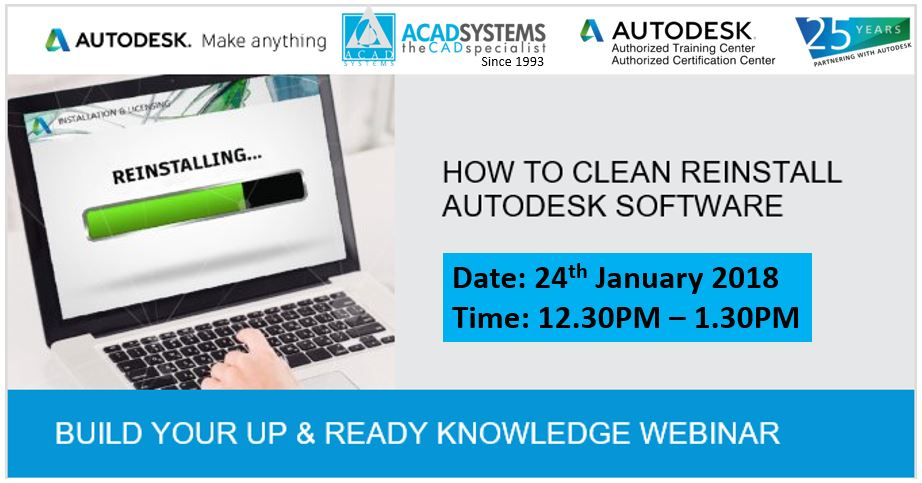 Knowledge Webinar: How To Clean Reinstall Autodesk Software - Acad