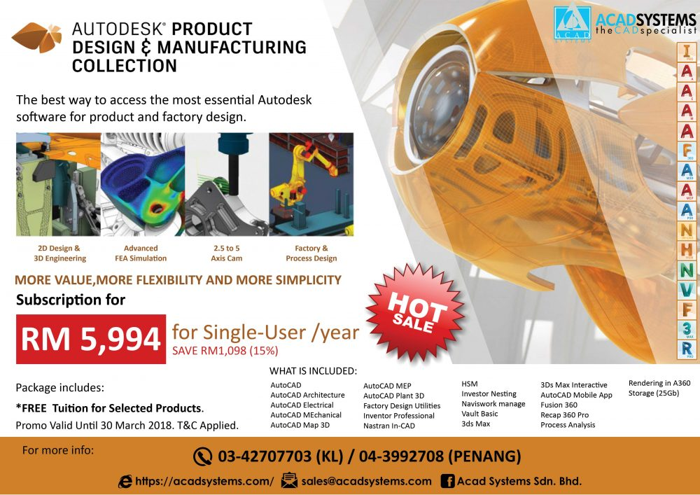 Global etraining autodesk courses merdeka promotion for Product design for manufacturing
