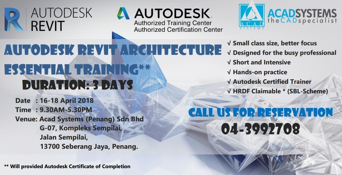 Autodesk Revit Architecture Essential Training - Acad Systems