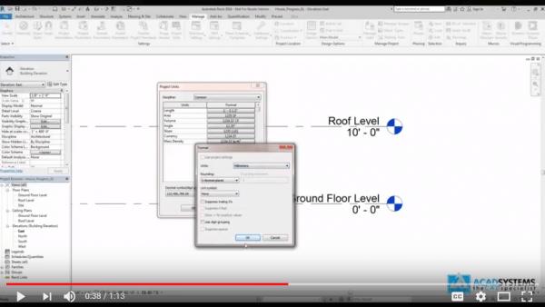 Revit tutorial video 6 Project Unit