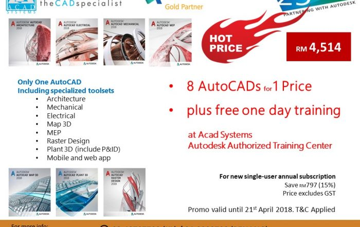 AutoCAD 2019 with specialized toolsets 4514 plus training