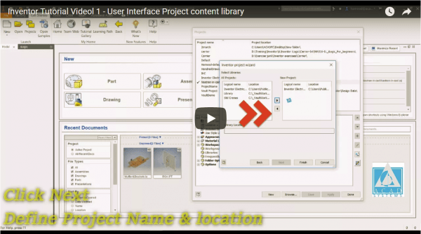 Inventor Tutorial Video 1 - User Interface Project content library