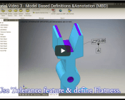 Inventor video tutorial 3 - Model Based Definitions & Annotation (MBD)