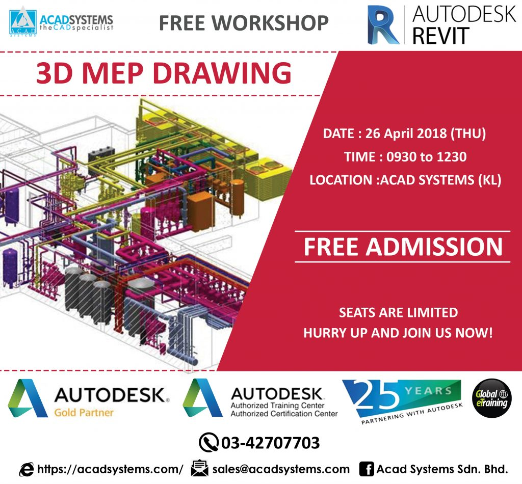 Page 8 Acad Systems Malaysia Autodesk Gold Partner And Training Drawing Hvac Using Autocad Mep Learn Revit 3d Modeling Free Workshop