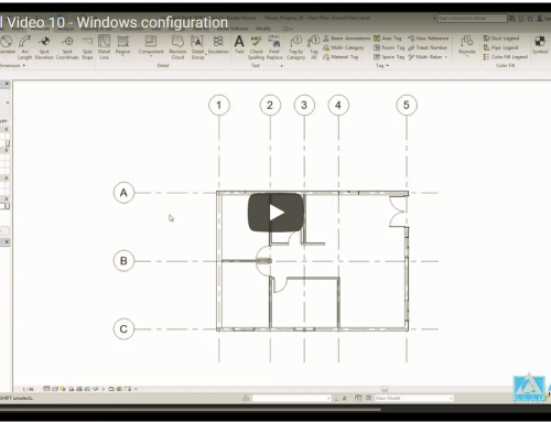 Revit Tutorial Video 10 – Windows configuration