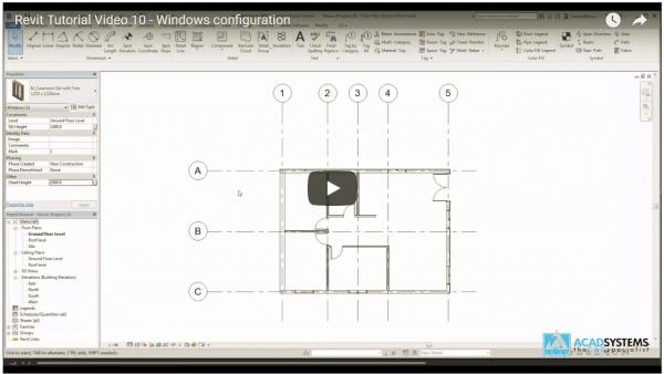 Revit Video Tutorial 10 Window configurations