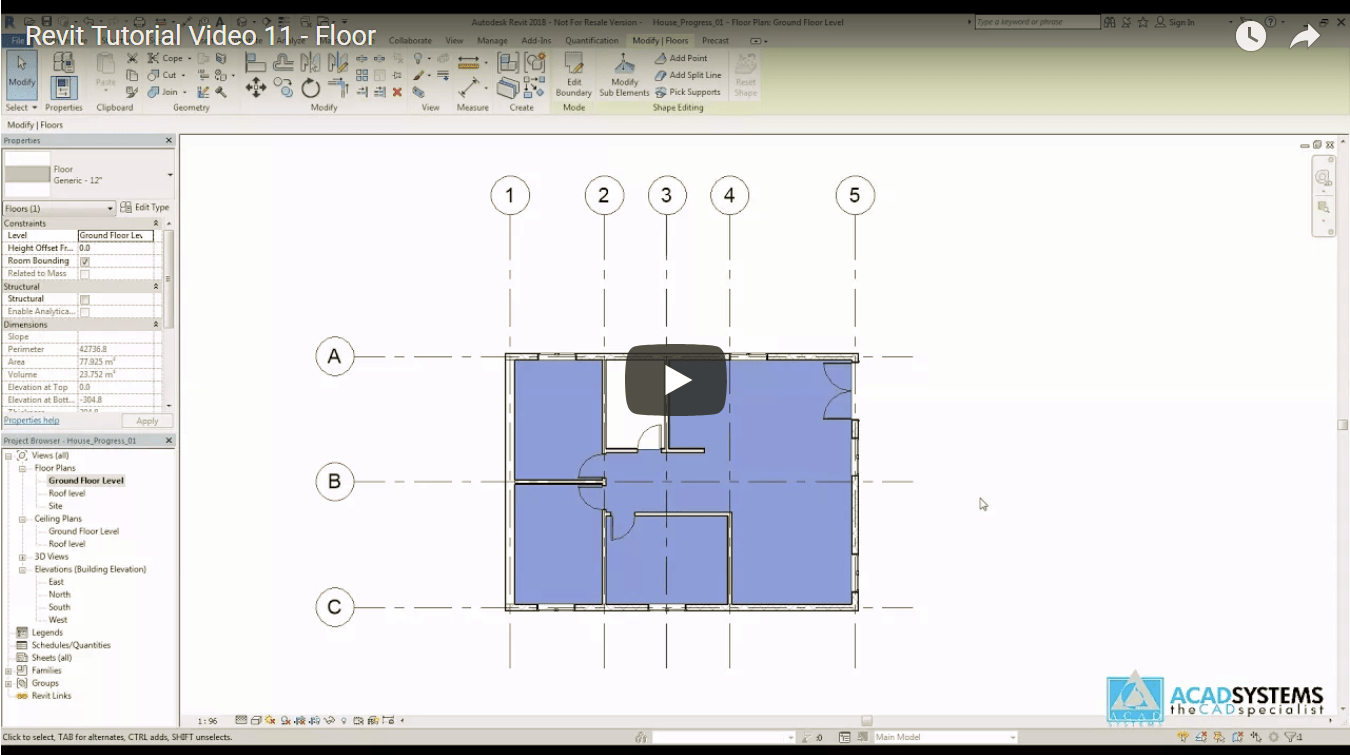Revit Video Tutorial 11 Floor