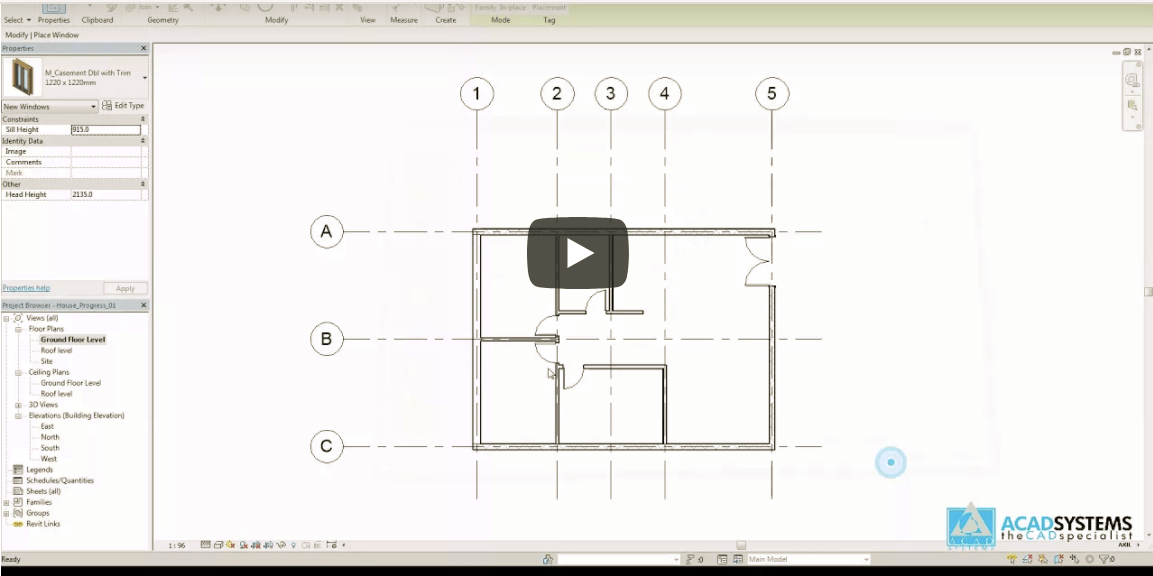 Revit Video Tutorial 9 Windows