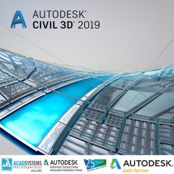 autodesk civil 3d 2019 badge 500px