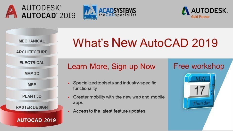 Autocad 2019 whats new workshop may 17