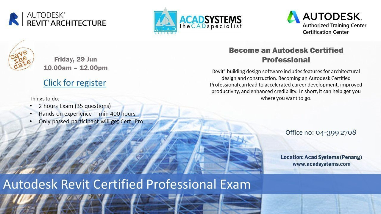 Autodesk Certified Professional Exam Acad Systems Malaysia