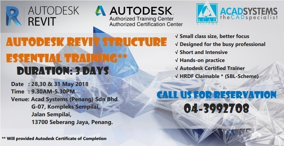 Autodesk Revit Structure Essential Training - Acad Systems Malaysia ...