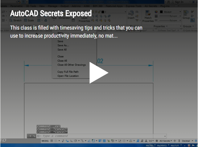 AutoCAD Secrets Exposed
