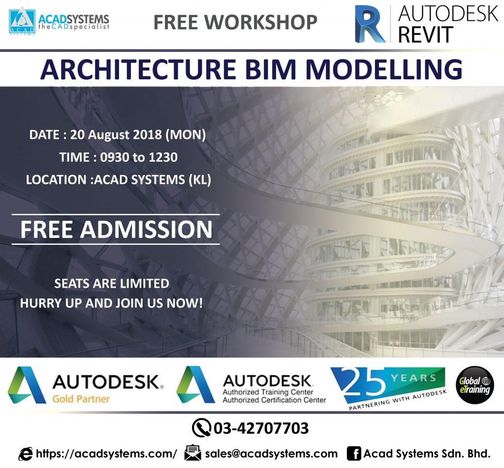Architecture BIM workshop 20 aaug 2018