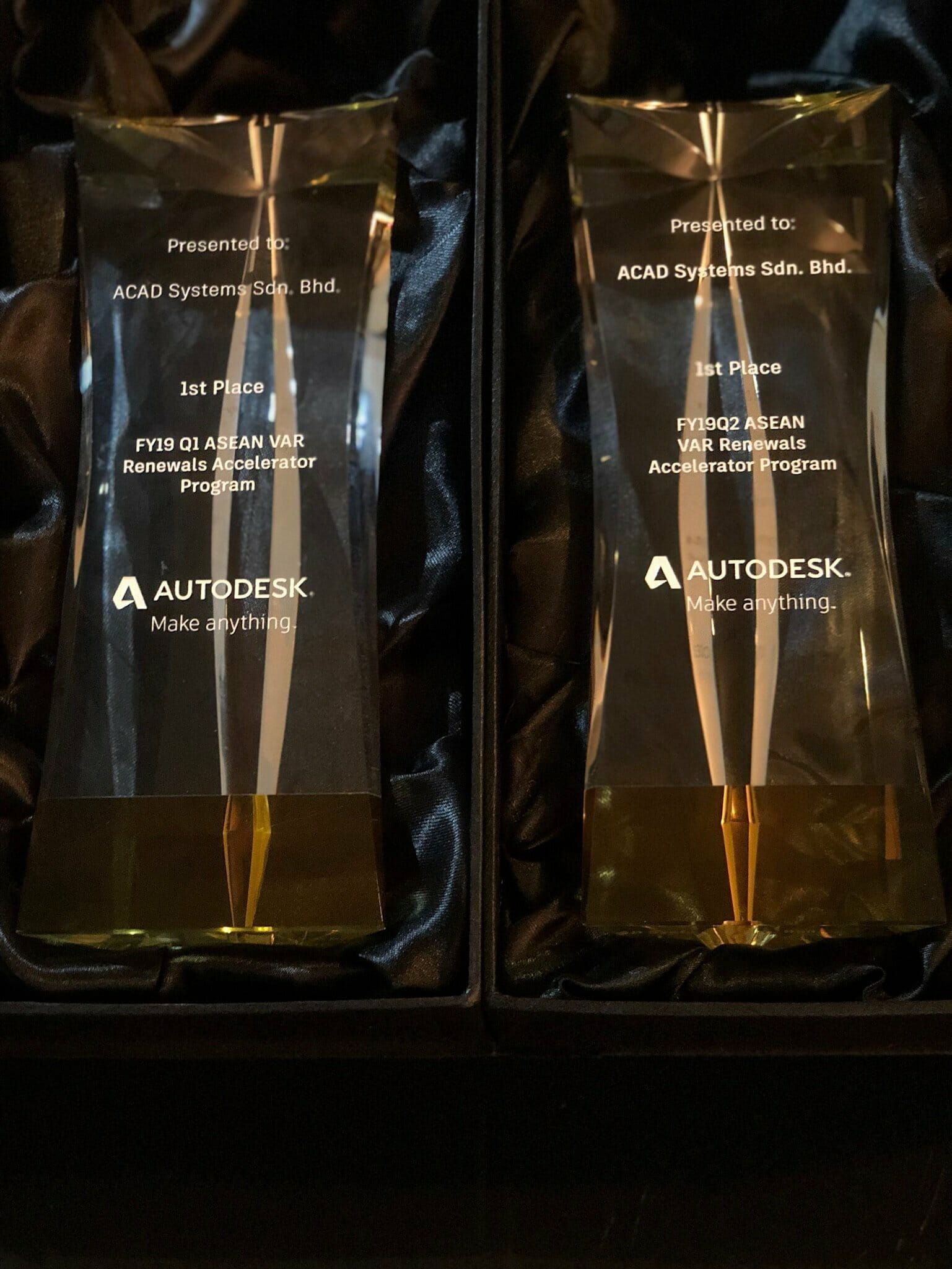 Autodesk Subscription Renewal Award for Acad Systems FY19 Q1 and Q2