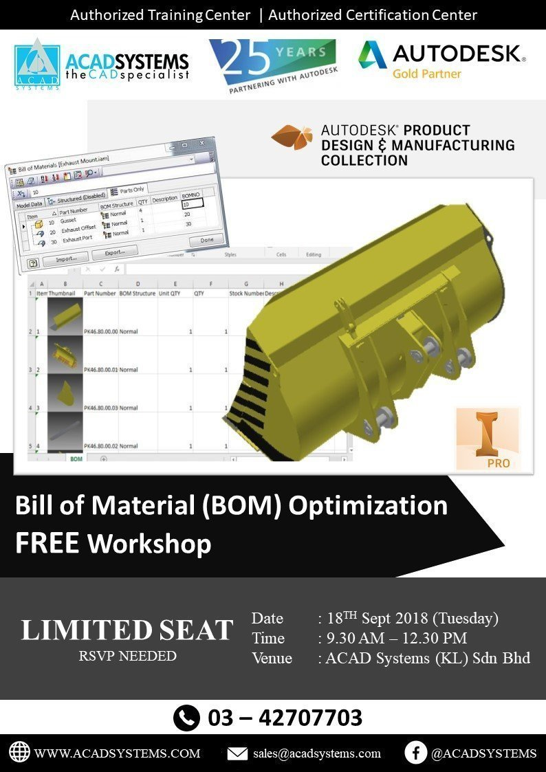Free Workshops KL Archives - Acad Systems Malaysia | Autodesk Gold
