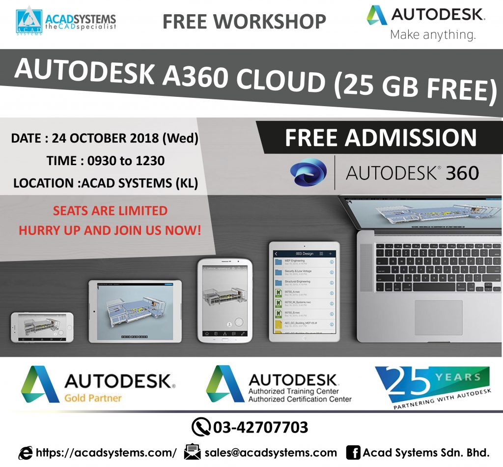 A360 Workshop Free Collaboration Tools by Autodesk - 24 October 2018