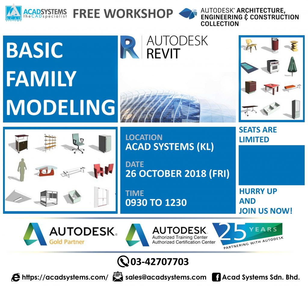 Autodesk Revit Family Modeling Free Workshop Acad Systems Malaysia