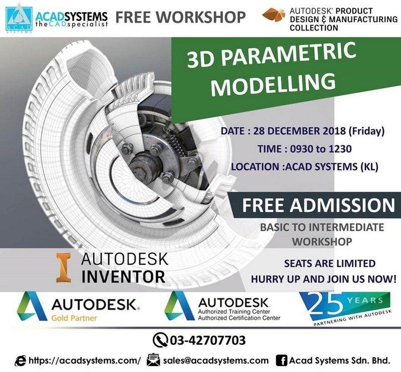 3D parametric modeling workshop 28 dec 2018