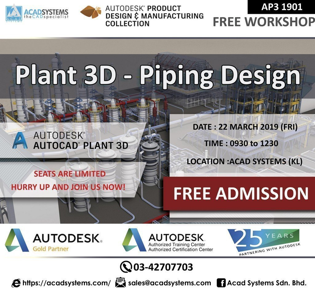 Plant 3D Piping Design Hands on Workshop - Acad Systems | Autodesk