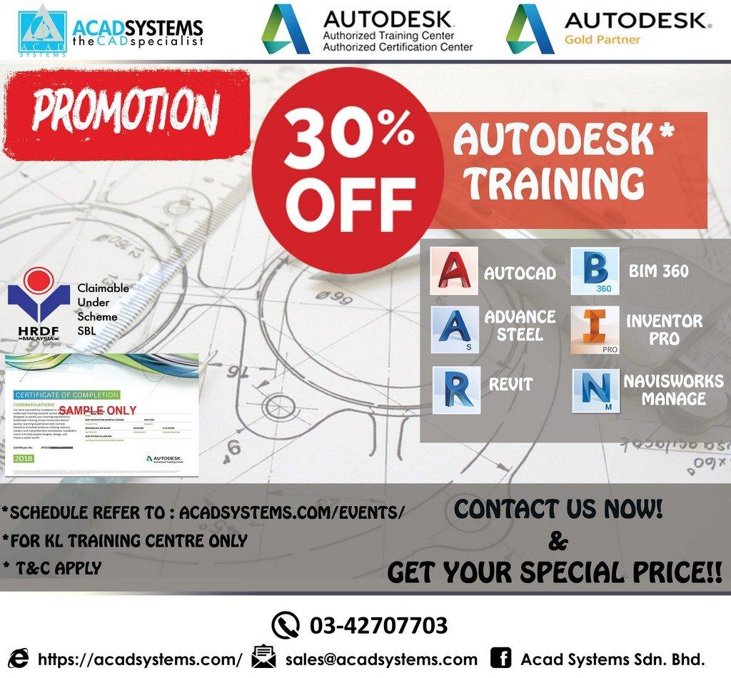 AcadSys KL training promo April 2019
