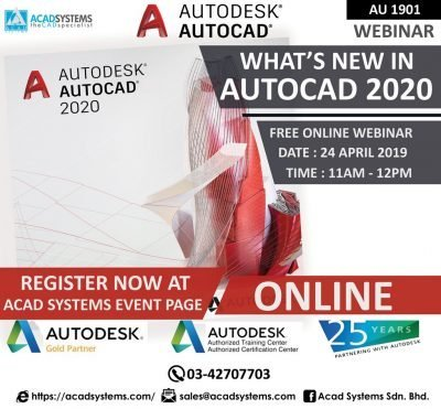 What;s new in AutoCAD 2020 Webinar 24 April 2019