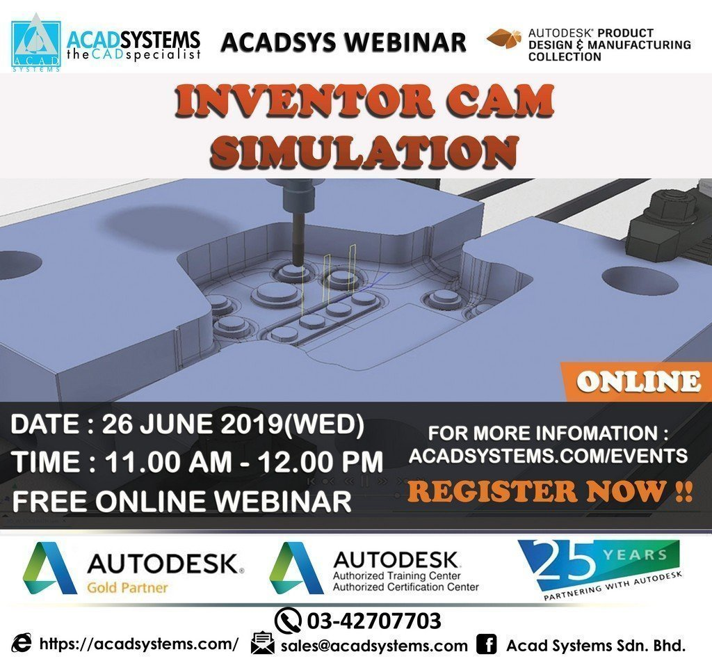 Inventor CAM Simulation 26 June 2019