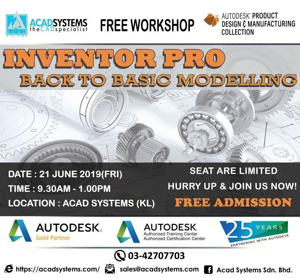 Inventor Workshop Back to Basic Modelling June 21 2019
